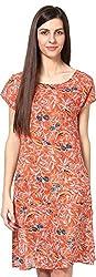 Shibori Women's Dress (Ds1731Co_M, Orange, Medium)