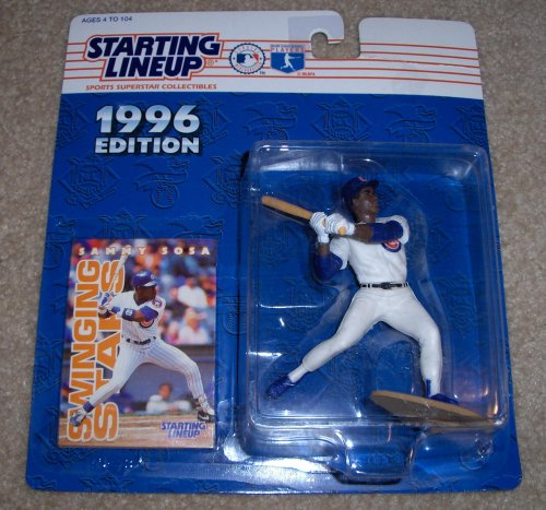 1996 - Kenner - Starting Lineup - MLB - Sammy Sosa #21 - Chicago Cubs - Vintage Action Figure - w/ Trading Card - Limited Edition - Collectible