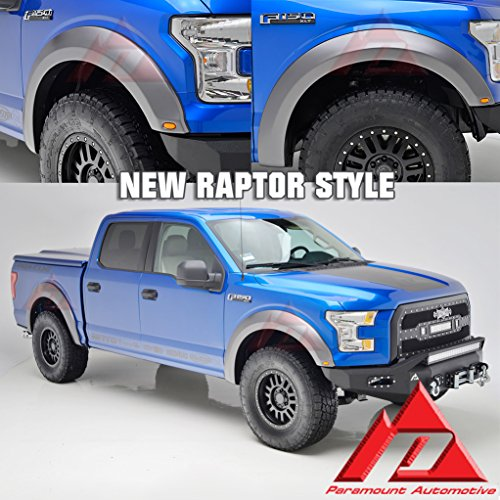 Paramount 15-16 Ford F-150 Fender Flares with LED Lights 2017 Raptor Style (18295RS) (Pre Painted Fender Flares compare prices)