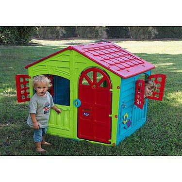 maison jura lodge smoby coloris marron et vert. Black Bedroom Furniture Sets. Home Design Ideas