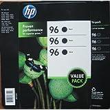 HP 96 Black Inkjet Print Cartridges tri-Pack