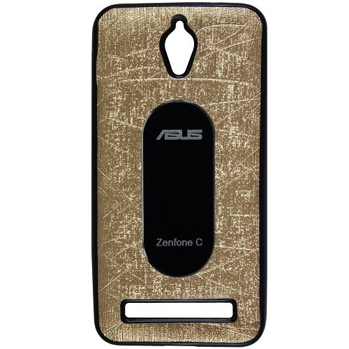 Casotec Metal Back TPU Back Case Cover for Asus Zenfone C ZC451CG - Gold  available at amazon for Rs.119