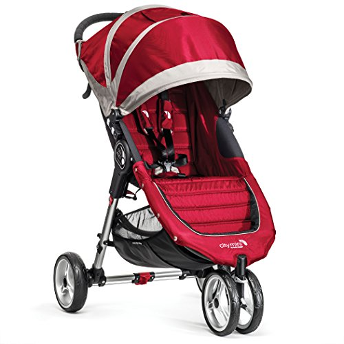 Baby Jogger City Mini Single Stroller, Crimson/Gray front-916089