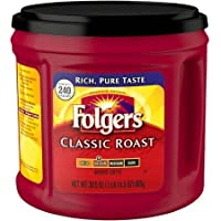 Folgers Classic Roast Ground Coffee, Regular, 30.5 oz. Can