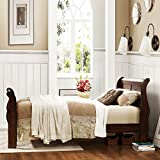 Homelegance Home Creek Cadence Sleigh Bed, Cherry, Wood, Queen