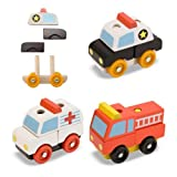 Melissa & Doug Stacking Emergency Vehicles