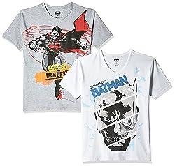 Kidsville Boys' T-Shirt (BM1KB03_Multi_9 - 10 years) Combo Tee