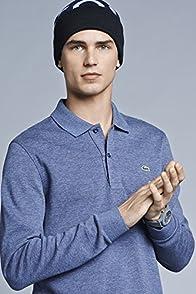 L/s Double Face Indigo Polo Shirt