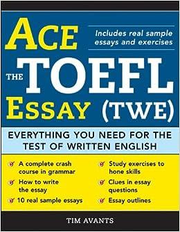 toefl essays book
