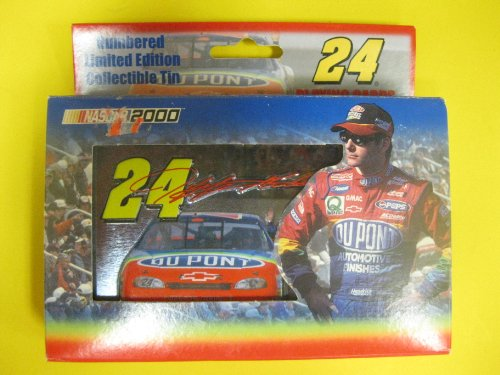 Jeff Gordon Limited Edition Tin with Playing Cards NASCAR 2000 - 1