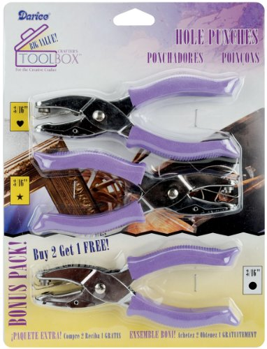 Darice,1201-15 Value Pack Hole Punches in 3 Shapes