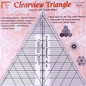 amazon   clearview triangle 10 inch 60 degree acrylic