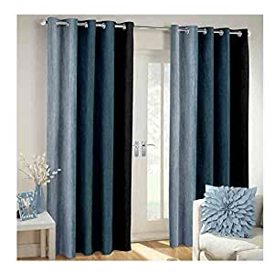 Buy curtain set of 2 printed eyelet polyester living room door curtain size width x length 48 - Amazon curtains living room ...
