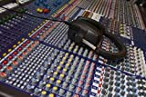 Content Wall Decals Mixing Desk & Headphones - 30 inches x 20 inches - Peel and Stick Removable Graphic
