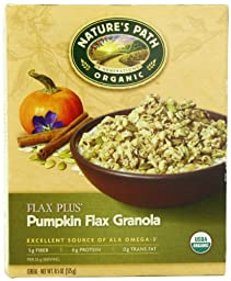 Nature\'s Path Organic Flax Plus Pumpkin Granola Cereal, 11.5-Ounce Boxes (Pack of 6)