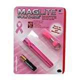 Maglite Solitaire Incandescent 1-Cell AAA National Breast Cancer Foundation Flashlight Pink