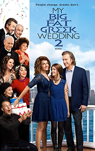 MY BIG FAT GREEK WEDDING 2 Original Movie Poster 27x40 - DS - JOHN STAMOS - RITA WILSON