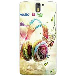 Oneplus One A0001 Back Cover - Head Phone Designer Cases