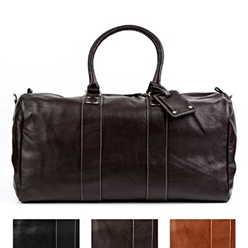BACCINI travel bag TOBY - weekender leather brown - sports bag