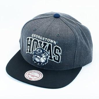 Georgetown Hoyas Mitchell & Ness Gray Arch Logo 2-tone Snapback Hat