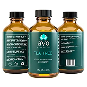 āVō Tea Tree Essential Oil - 4 Ounce - 100% Pure Melaleuca Therapeutic Grade from Australia for Nail Fungus and Dandruff Treatment