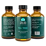 āVō Tea Tree Essential Oil - 4 Ounce - 100% Pure Therapeutic Grade From Australia for Nail Fungus, Dandruff Treatment, Acne, and Athletes Foot