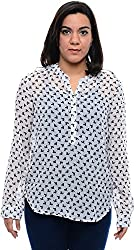CHLOE Women's Regular Fit Shirt (CH-AM-11356P24-XL, White, XL)