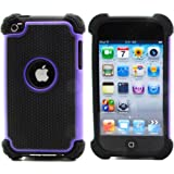 BZ Gadget Shock Proof Case Cover for Apple iPod Touch 4G 4th Generation (Purple) + BZ Gadget Cleaning Cloth
