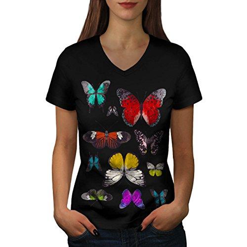 papillon-collection-couleur-aile-femme-nouveau-noir-l-t-shirt-wellcoda