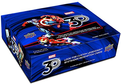 2015 Upper Deck Marvel 3D Trading Card box (2015 Marvel Cards compare prices)