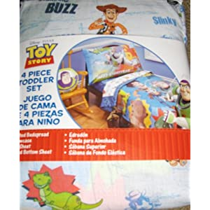 toy story 3 four piece toddler bed set - Toy Story Toddler Sheets