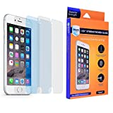 iPhone 6S Plus / 6 Plus Glass Screen Protector, 3-Pack, Real Gorilla Glass, Super Strong Premium Quality Glass by Corning, Crystal Clear, Hardness 9H, Thickness 0.33 mm, Complete Kit, Easy to Apply