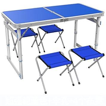 Tabla plegable de la casa del hogar Tabla plegable de la tabla de actividades Mesa de la aleación de aluminio Tabla de aprendizaje Tabla perezosa ( Color : E )