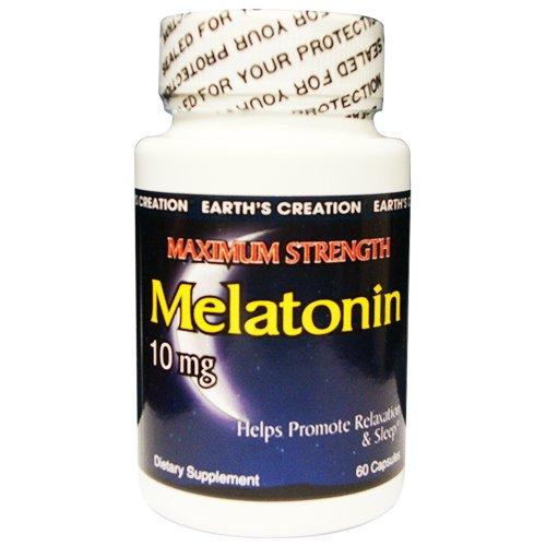 Earth'S Creation Melatonin 10Mg - Maximum Strengh - 60 Tablets