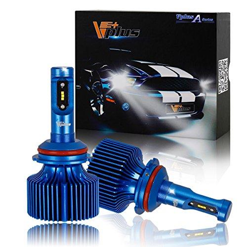 Vplus A Series LED Headlight Bulbs w/Clear Arc-Beam Conversion Kit -9007 HB5 90W 8,400LM 6500K White Seoul w/No Fan Headlamp Adjustable Light Pattern LED Replace HID&Halogen -2 Yr Warranty(2pcs/set) (97 Pontiac Sunfire Head compare prices)