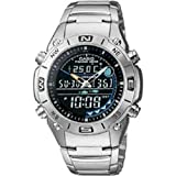 Casio #AMW703D-1AV Men's Stainless Steel Outgear Fishing Timer Analog Digital Sports Watch