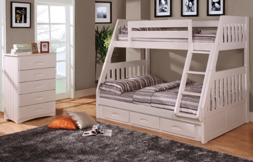 Loft Bed Over Desk 6875 front