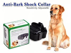iClever® Humane INCREMENTAL Anti Bark No Bark Ultrasonic Sound & Static Shock Dog Collar For MEDIUM LARGE DOGS (60lbs-120lbs,the neck circumference less than 21 inches)--Let your dog learn to be silent step by step