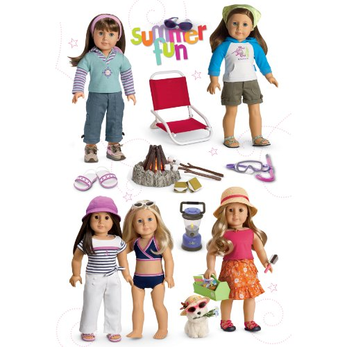 American Girl Crafts Summer Fun Doll Stacked Stickers - 1