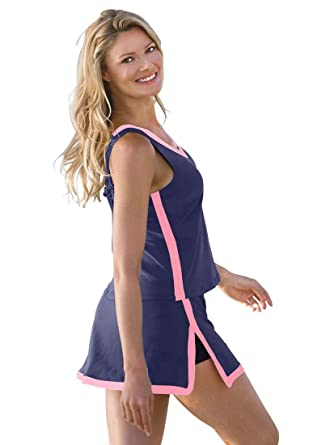 ab8d6196f Woman Within Plus Size 2 piece skirtini swimsuit Inches Off