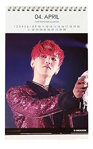 BIGBANG g-dragon ジードラゴン GD 2017年 2018年 (2年分) 卓上カレンダー+イヤホンジャック付ストラップ グッズ 30
