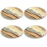 MSD Round Coasters 4 Pack Cracked concrete vintage brick wall background Natural Rubber base IMAGE 23344900