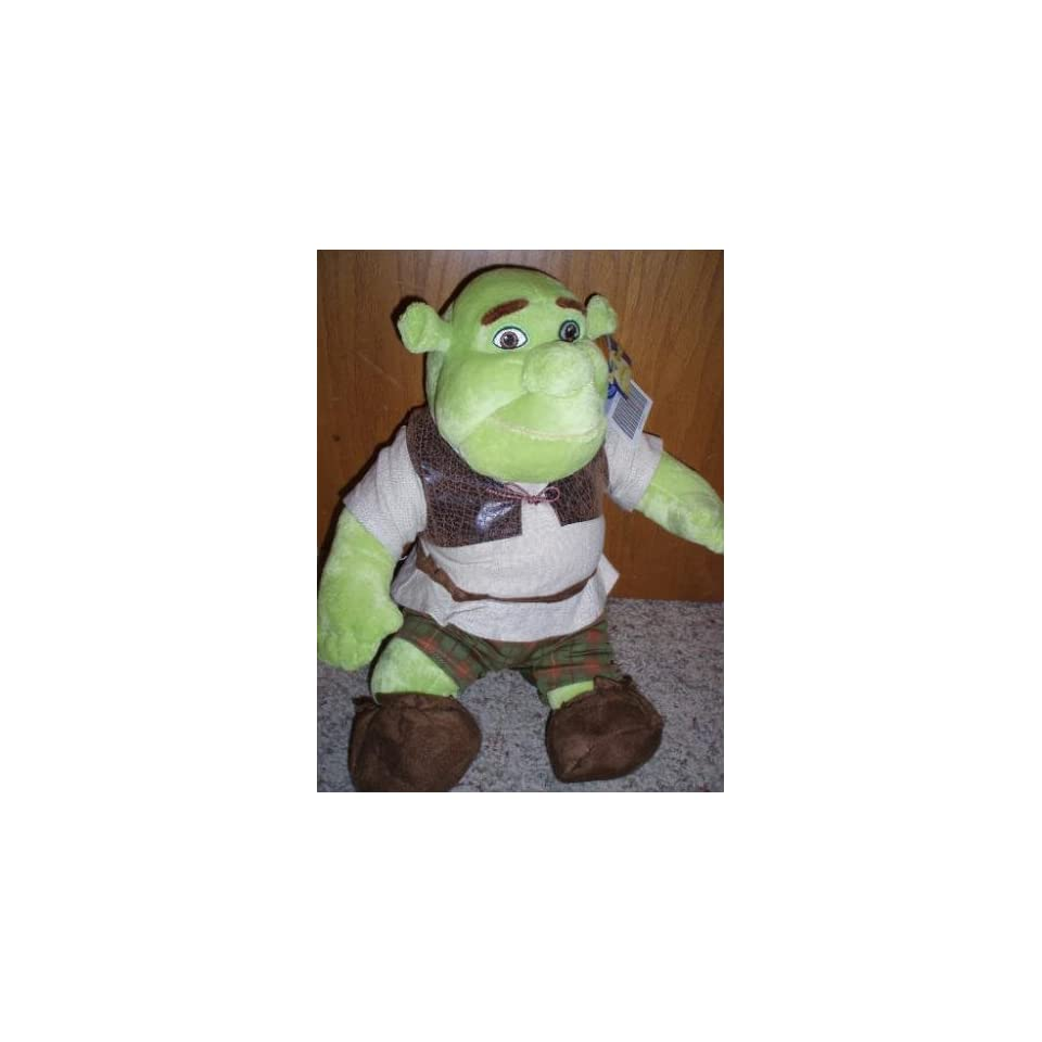 Retired Hard to Find Large 17 Inch Plush Build a Bear Shrek Ogre Doll New with Tags