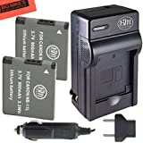 2 Pack Of NB-11L Batteries & Battery Charger Kit for Canon PowerShot Elph 110 Elph 130 Elph 135 IS Elph 140 IS Elph 150 IS Elph 320 HS Elph 340 HS A2300 IS A2400 IS A2600 IS A3400 IS A4000 IS Digital Camera + More!!