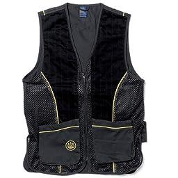 Beretta Men\'s Silver Pigeon Shooting Vest, Black/Gold, Medium