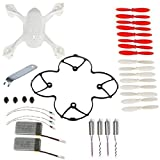 AVAWO for Hubsan X4 H107D 8-in-1 Quadcopter White Spare Parts Crash Pack (As shown)