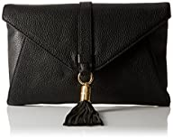 MILLY Astor Clutch, Black, One Size