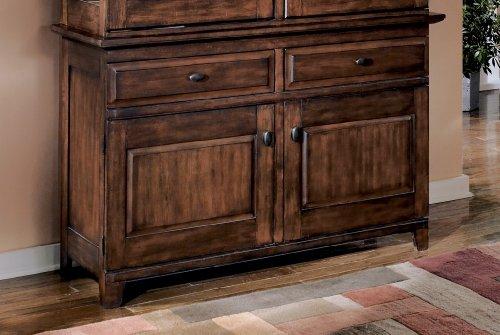 Cheap Rustic Burnished Dark Brown Larchmont Dining Room Buffet (B003CUS66U)