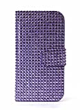myLife Mauve Purple Bling - Glamorous Design - Textured Koskin Faux Leather (Card and ID Holder + Magnetic Detachable Closing) Slim Wallet for iPhone 5/5S (5G) 5th Generation iTouch Smartphone by Apple (External Rugged Synthetic Leather With Magnetic Clip + Internal Secure Snap In Hard Rubberized Bumper Holder)