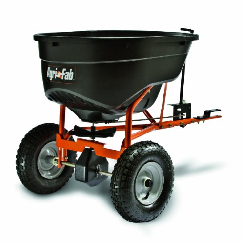Learn More About Agri-Fab 45-0463 SmartSPREADER 130-Pound Max Tow Behind Broadcast Spreader, Black